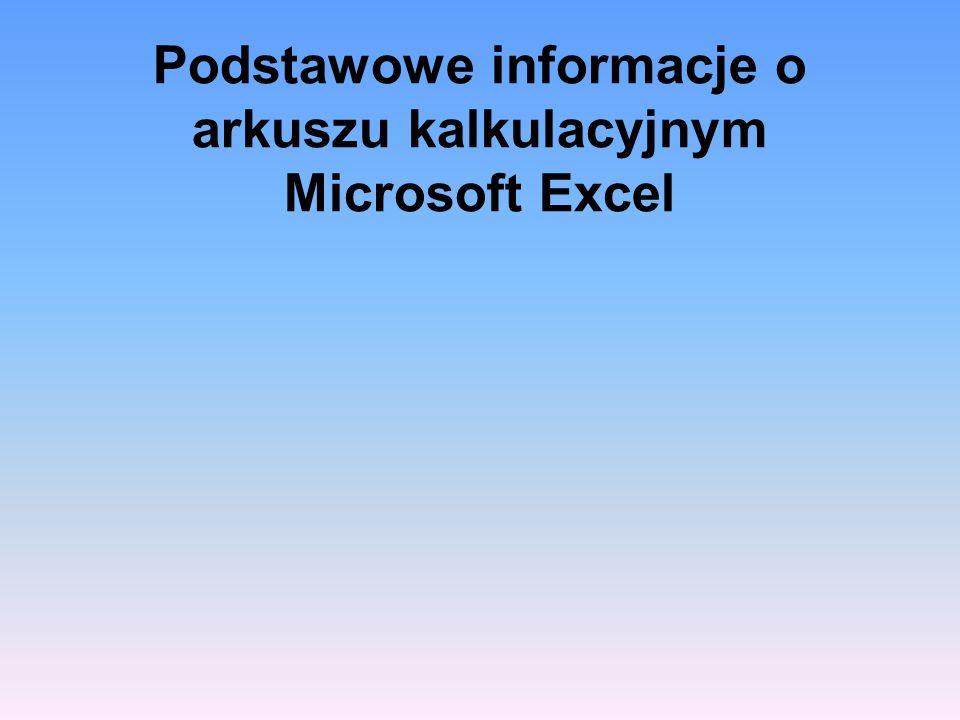 Microsoft Excel – arkusz kalkulacyjny produkowany przez firmę Microsoft dla systemów Windows i MacOS.