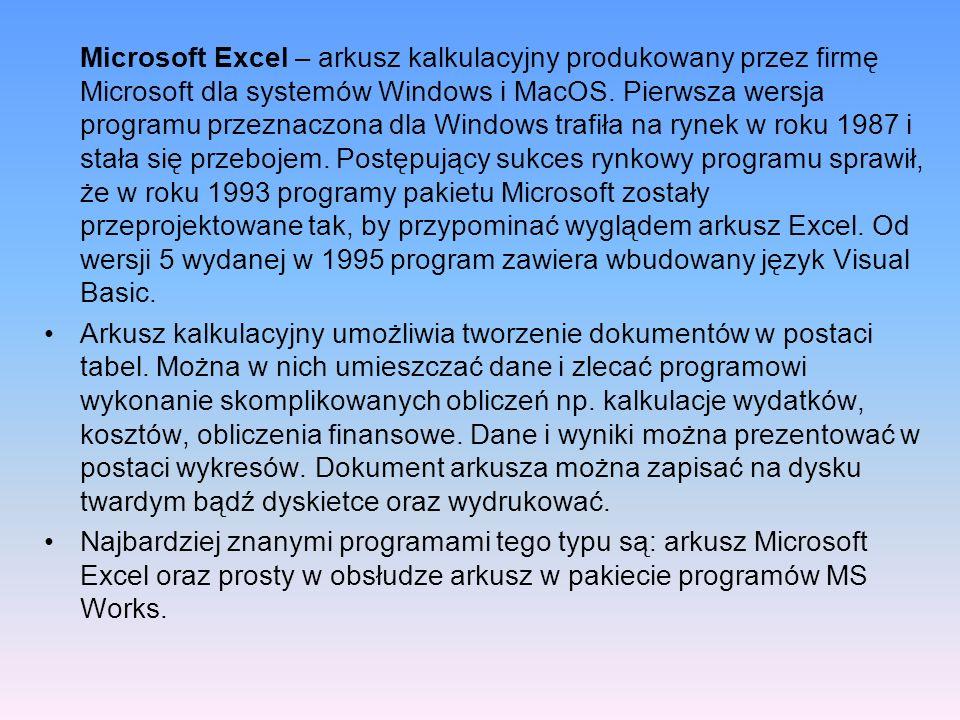 Praca z Autofiltrem Oprócz sortowania w bazach danych w Excelu jest możliwość wyselekcjonowania tylko pewnej grupy rekordów.