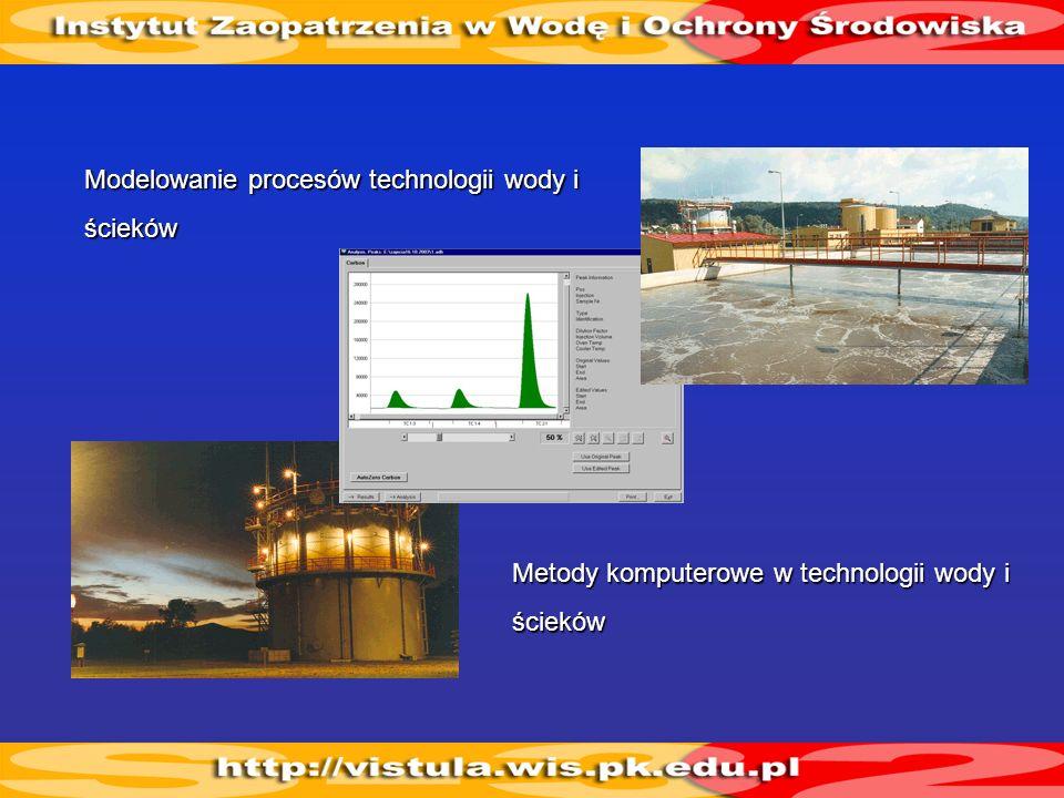 Planowania i zarządzania elementami gospodarki wodno-ściekowej Optymalizacja systemów wodociągów i kanalizacji Metody komputerowe w oczyszczaniu wody i ścieków Komputerowe wspomaganie projektowania wodociągów i kanalizacji Ryzyko w systemach wodociągowych Zarządzanie i sterowanie systemami wodociągowo-kanalizacyjnymi Unieszkodliwianie odpadów komunalnych Transport zanieczyszczeń w wodzie