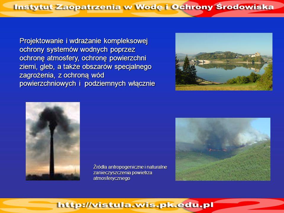 Źródła antropogeniczne i naturalne zanieczyszczenia powietrza atmosferycznego Projektowanie i wdrażanie kompleksowej ochrony systemów wodnych poprzez