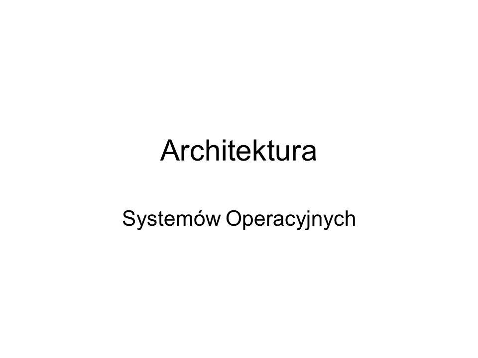 Architektura Systemów Operacyjnych
