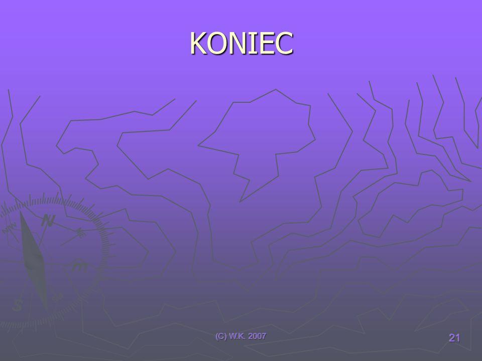 (C) W.K. 2007 21 KONIEC