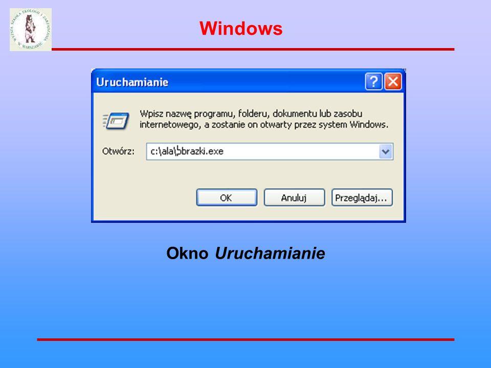 Okno Uruchamianie Windows