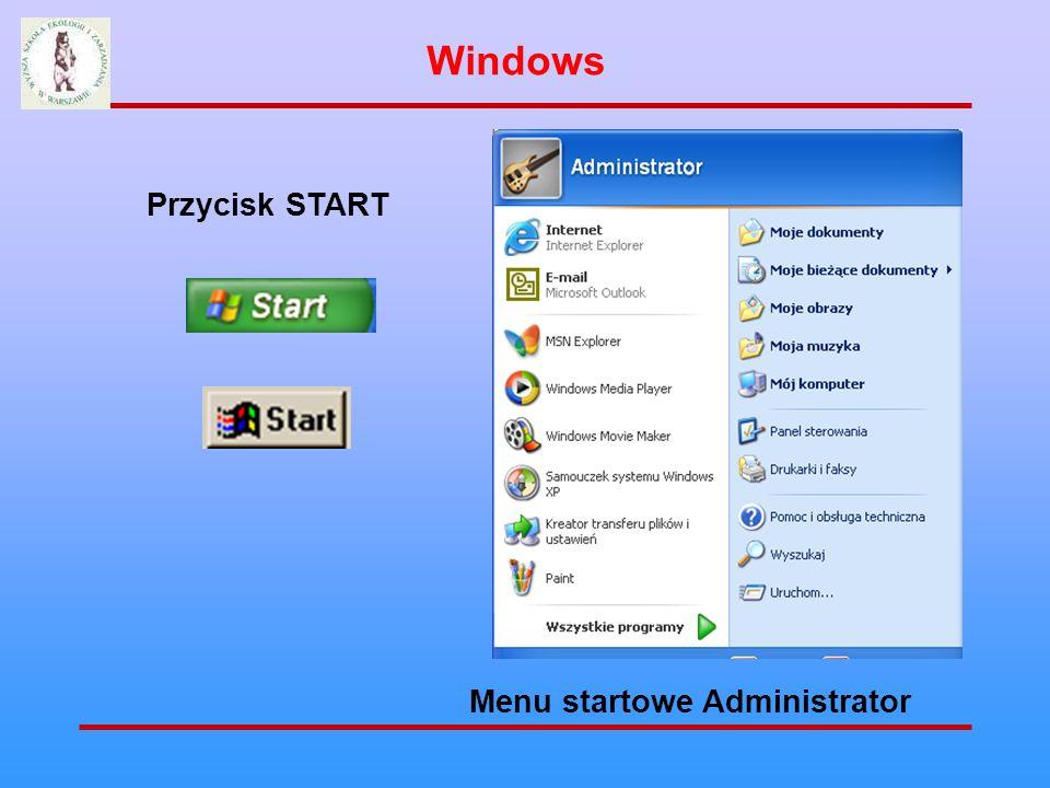 Przycisk START Menu startowe wygląd tradycyjny Windows