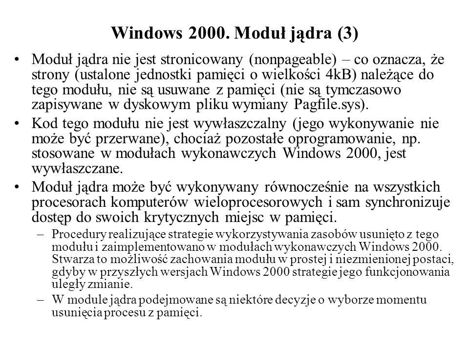Windows 2000. Obiekty jądra. Obiekty dyspozytora
