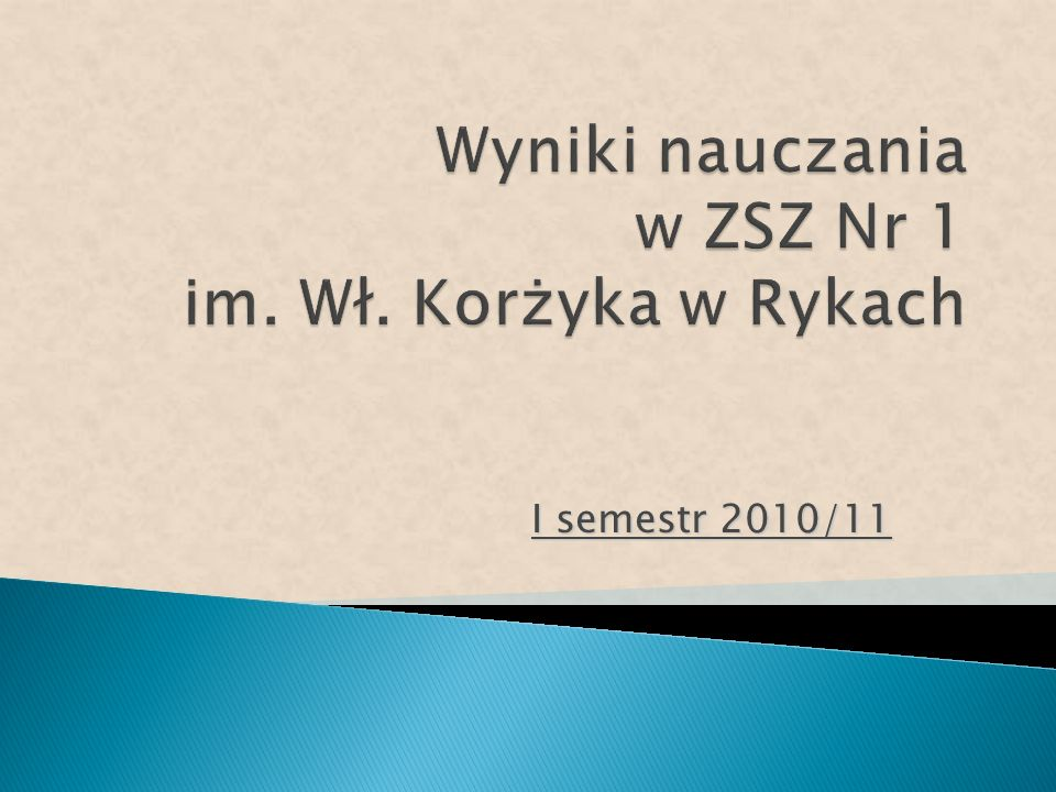 I semestr 2010/11