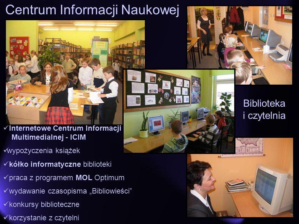Biblioteka i czytelnia Internetowe Centrum Informacji Multimedialnej - ICIM wypożyczenia książek kółko informatyczne biblioteki praca z programem MOL