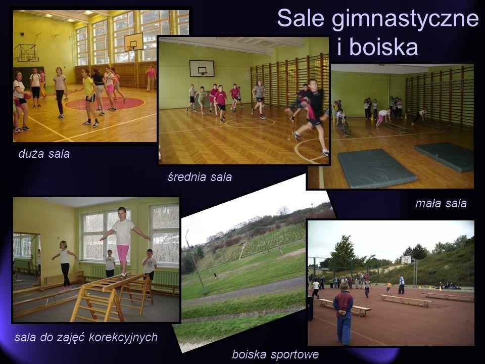 duża sala Sale gimnastyczne i boiska boiska sportowe mała sala sala do zajęć korekcyjnych średnia sala