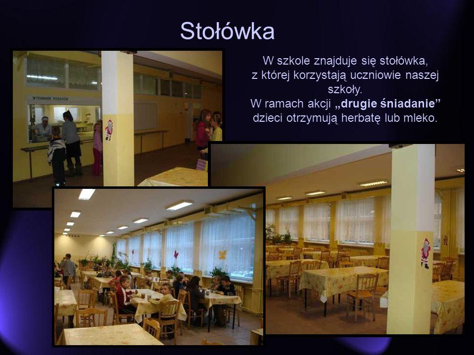 Stołówka W szkole znajduje się stołówka, z której korzystają uczniowie naszej szkoły. W ramach akcji drugie śniadanie dzieci otrzymują herbatę lub mle