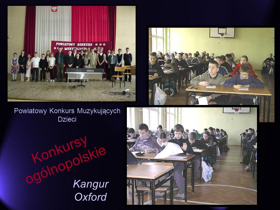 Konkursy ogólnopolskie Kangur Oxford Powiatowy Konkurs Muzykujących Dzieci