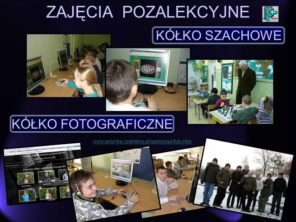 ZAJĘCIA POZALEKCYJNE KÓŁKO SZACHOWE KÓŁKO FOTOGRAFICZNE www.jedynka.czarnkow.pl/samorzad/foto.htm