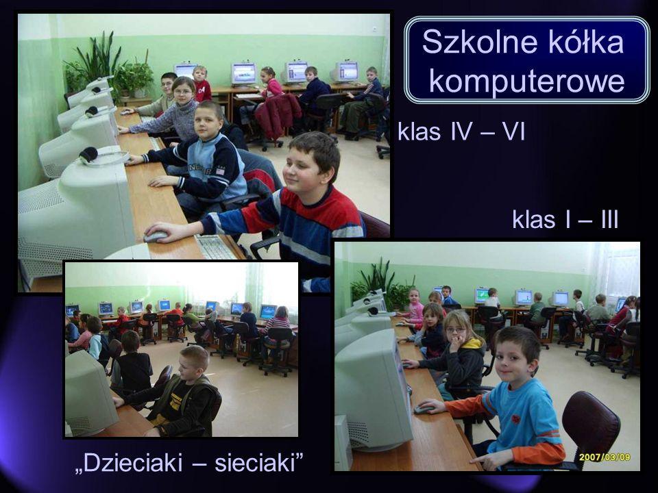klas IV – VI Dzieciaki – sieciaki klas I – III Szkolne kółka komputerowe