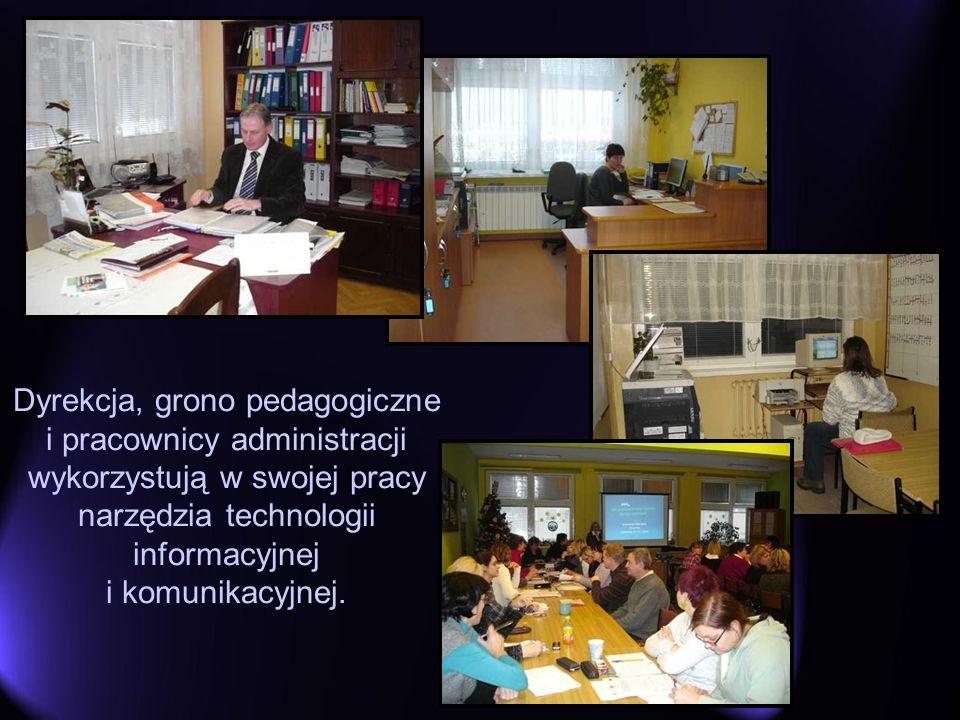 Dyrekcja, grono pedagogiczne i pracownicy administracji wykorzystują w swojej pracy narzędzia technologii informacyjnej i komunikacyjnej.