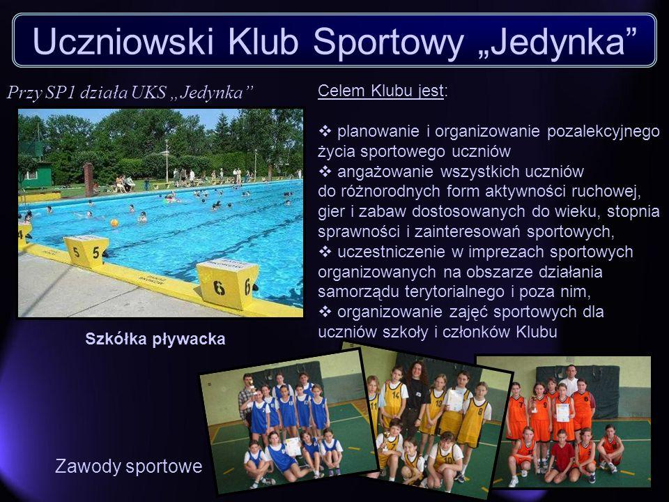 Uczniowski Klub Sportowy Jedynka Celem Klubu jest: planowanie i organizowanie pozalekcyjnego życia sportowego uczniów angażowanie wszystkich uczniów d