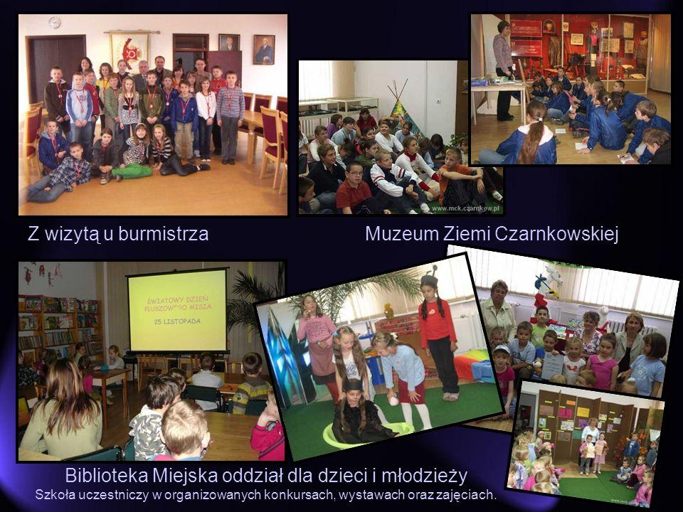 Z wizytą u burmistrza Biblioteka Miejska oddział dla dzieci i młodzieży Szkoła uczestniczy w organizowanych konkursach, wystawach oraz zajęciach. Muze