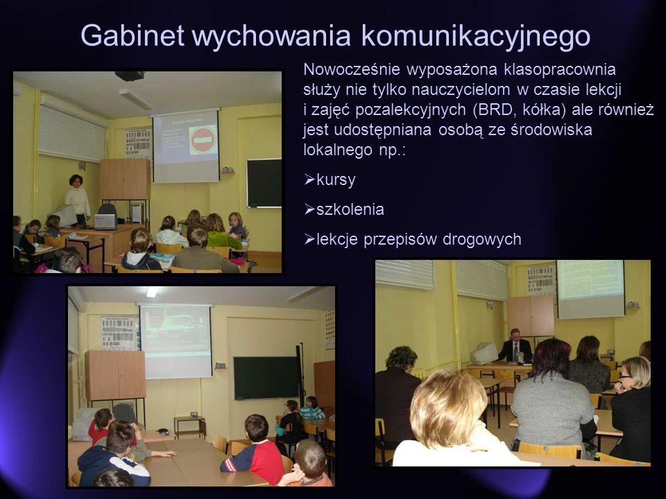 Gabinet wychowania komunikacyjnego Nowocześnie wyposażona klasopracownia służy nie tylko nauczycielom w czasie lekcji i zajęć pozalekcyjnych (BRD, kół