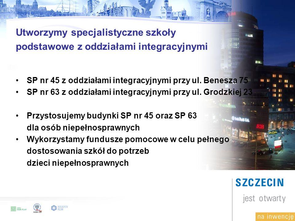 Utworzymy specjalistyczne szkoły podstawowe z oddziałami integracyjnymi SP nr 45 z oddziałami integracyjnymi przy ul.