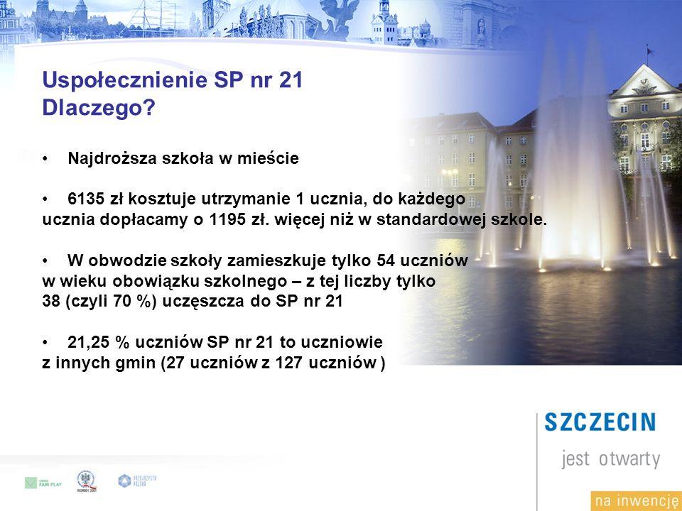 Uspołecznienie SP nr 21 Dlaczego.
