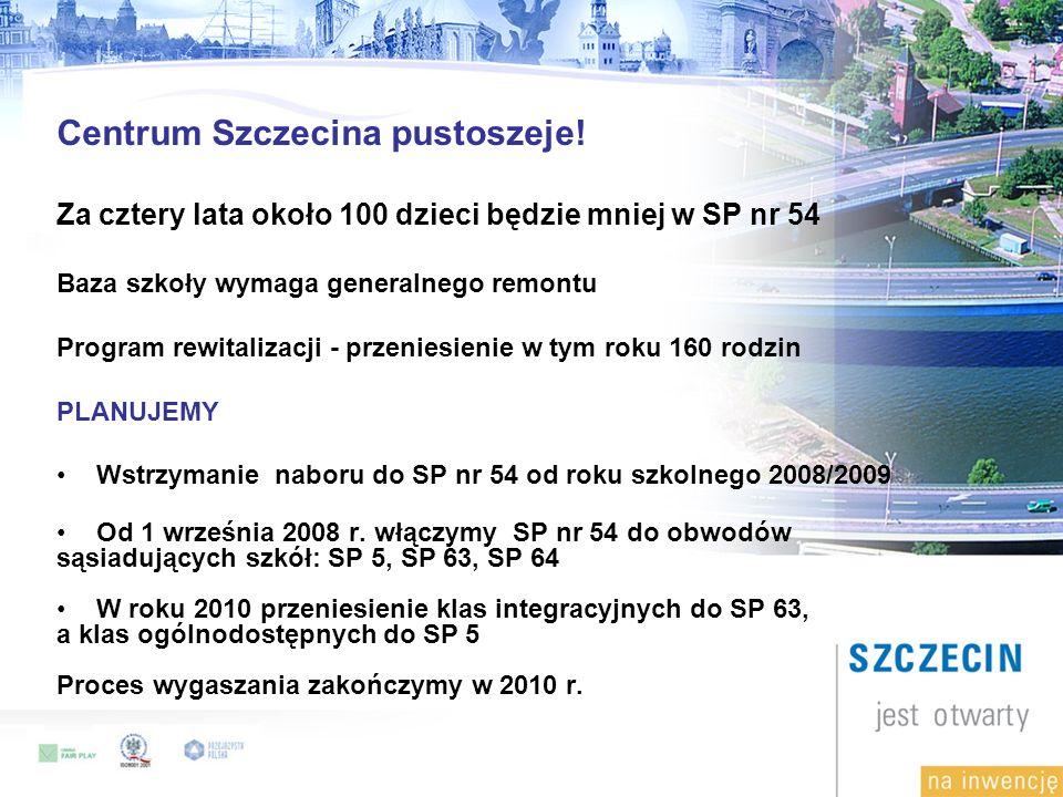 Centrum Szczecina pustoszeje.