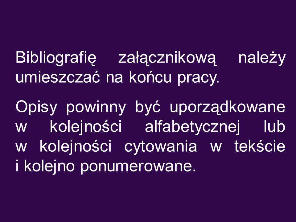 Przykład opisu fragmentu w wydawnictwie zwartym (1) RUSEK Marta.