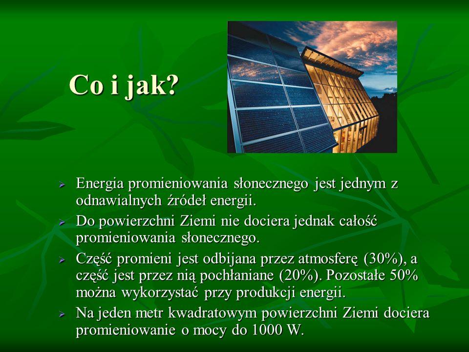 Co i jak? Energia promieniowania słonecznego jest jednym z odnawialnych źródeł energii. Energia promieniowania słonecznego jest jednym z odnawialnych