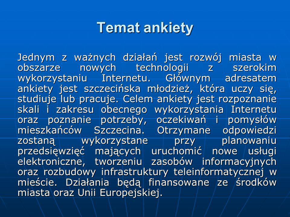 4. Jakich informacji o Szczecinie brakuje w sieci Internet