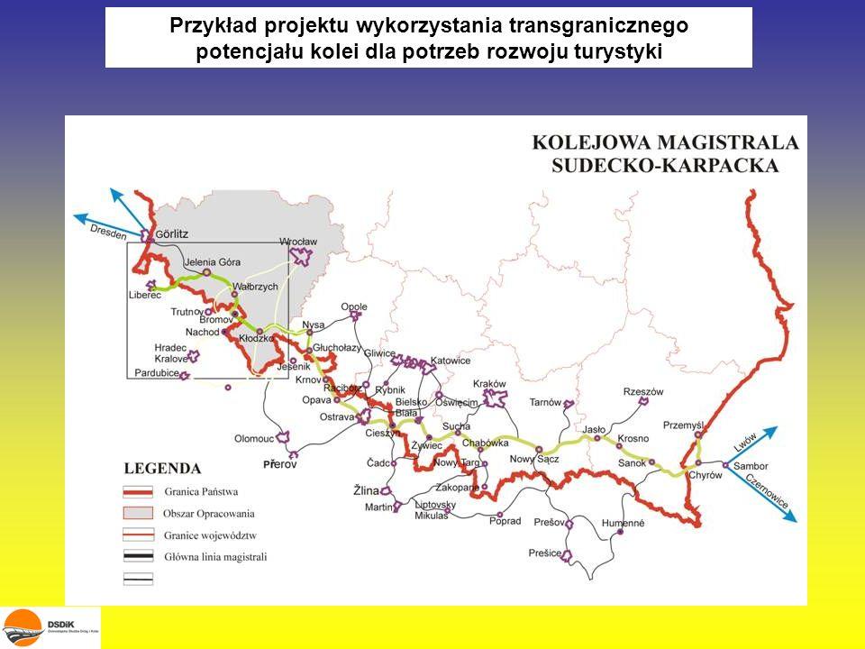 Przykład projektu wykorzystania transgranicznego potencjału kolei dla potrzeb rozwoju turystyki