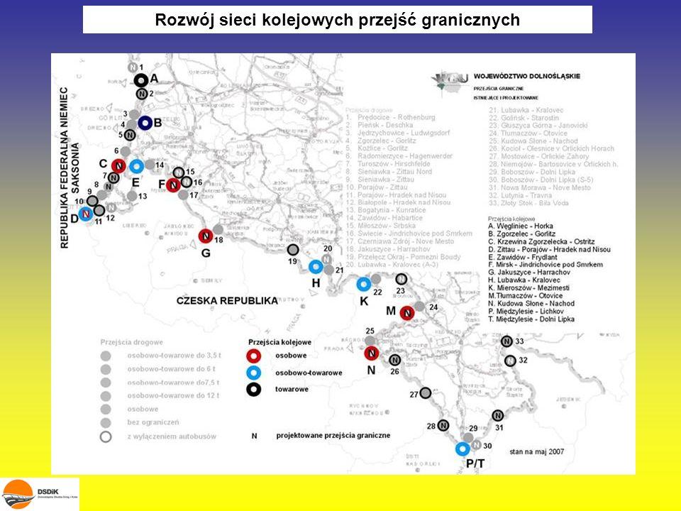 Rozwój sieci kolejowych przejść granicznych