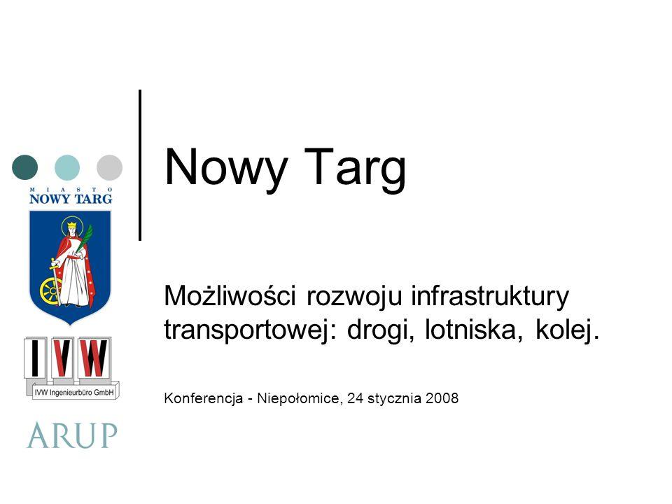 Nowy Targ Możliwości rozwoju infrastruktury transportowej: drogi, lotniska, kolej. Konferencja - Niepołomice, 24 stycznia 2008