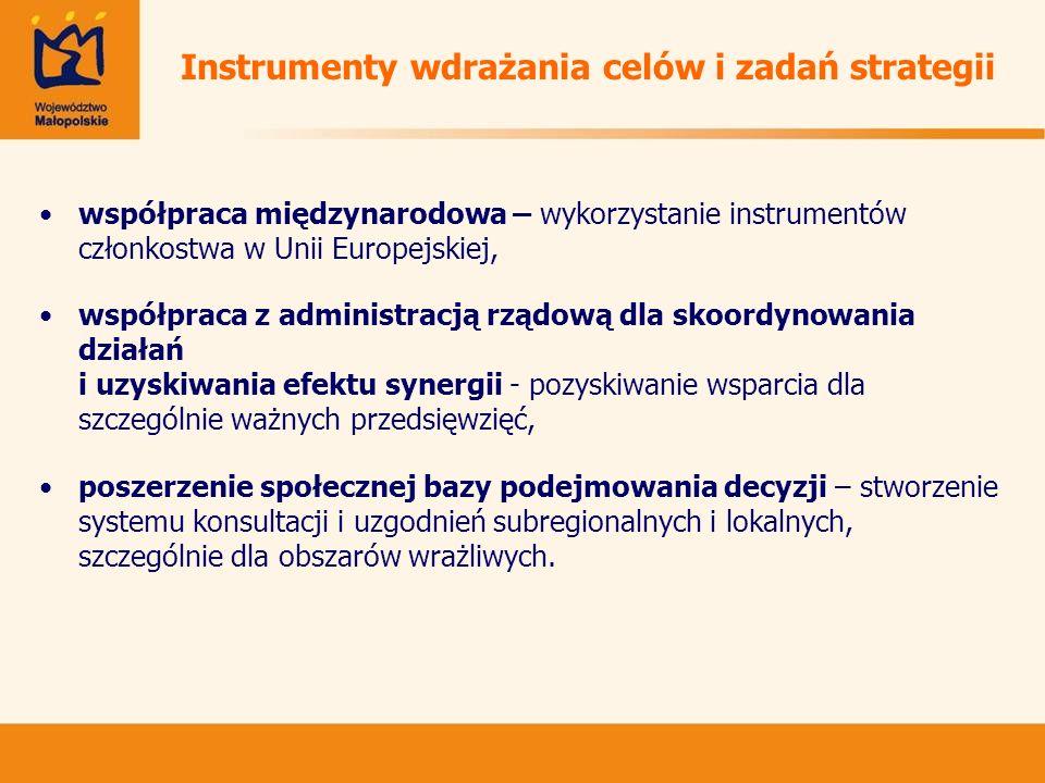 Instrumenty wdrażania celów i zadań strategii współpraca międzynarodowa – wykorzystanie instrumentów członkostwa w Unii Europejskiej, współpraca z adm