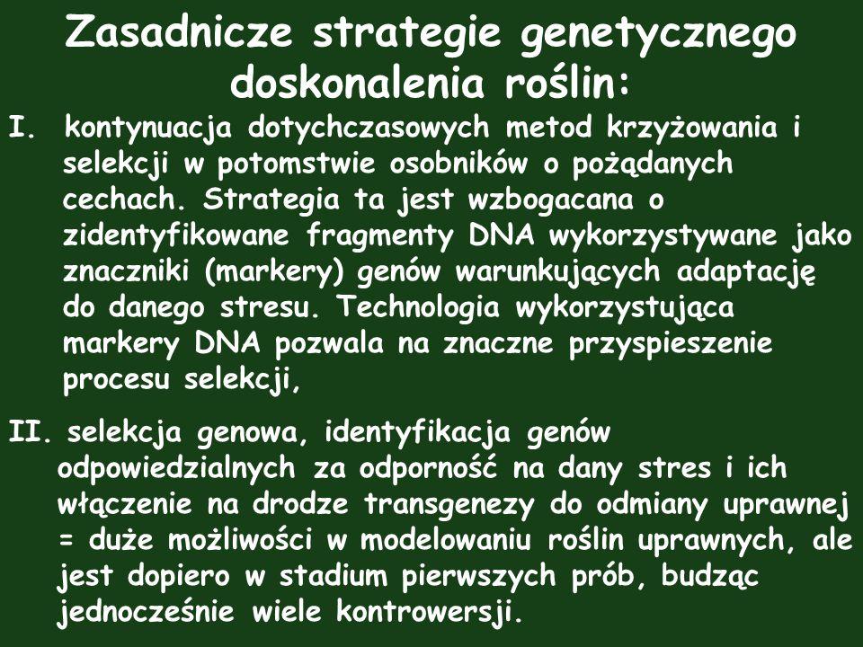 Zasadnicze strategie genetycznego doskonalenia roślin: I. kontynuacja dotychczasowych metod krzyżowania i selekcji w potomstwie osobników o pożądanych