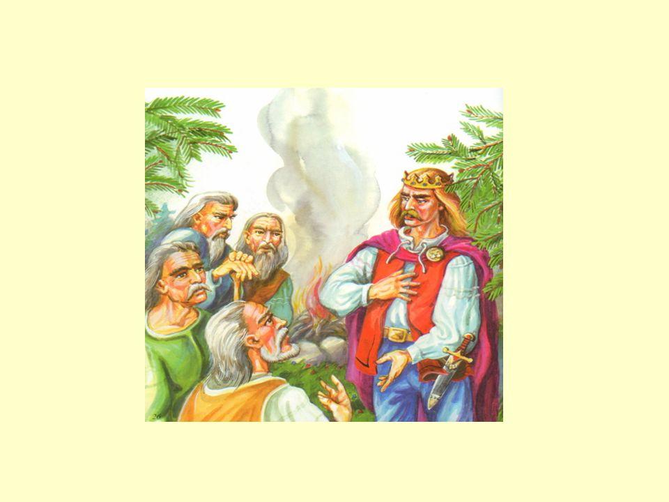 Późnym popołudniem Lech zwołał starszyznę plemienną, a gdy mężczyźni zasiedli przy ognisku, tak do nich przemówił: Wędrowaliśmy długo, szukając miejsc