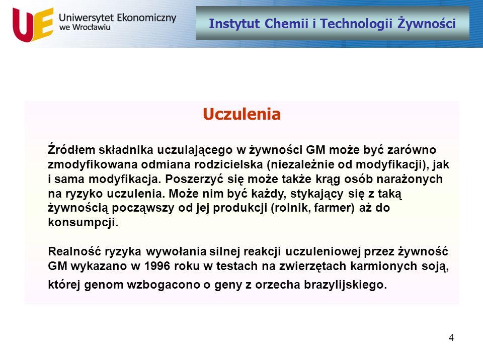 15 Instytut Chemii i Technologii Żywności Dziękuję za uwagę Prof.
