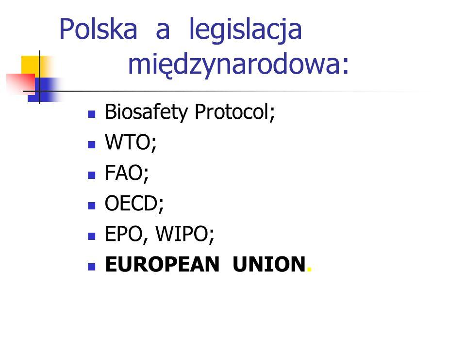 Polska legislacja a GMO 18.11.2008