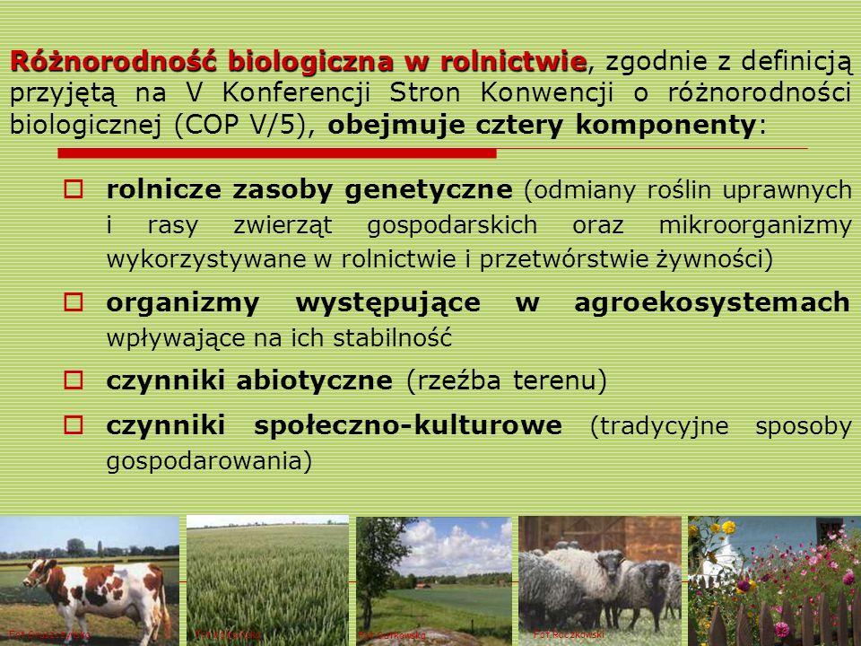Różnorodność biologicznaw rolnictwie Różnorodność biologiczna w rolnictwie, zgodnie z definicją przyjętą na V Konferencji Stron Konwencji o różnorodno