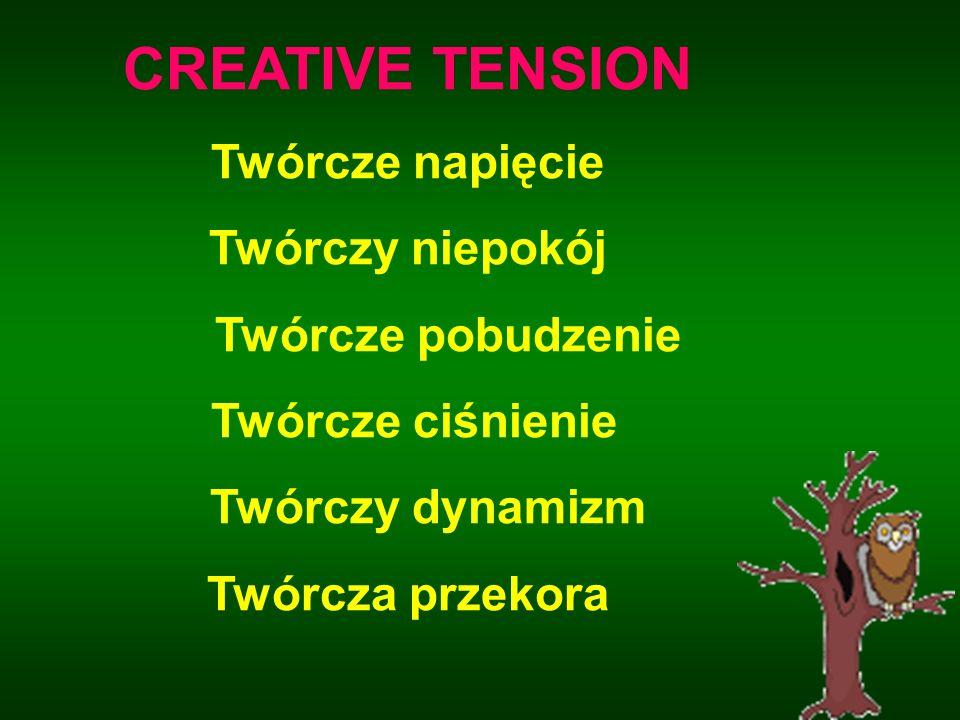 CREATIVE TENSION Twórcze napięcie Twórczy niepokój Twórcze pobudzenie Twórcze ciśnienie Twórczy dynamizm Twórcza przekora