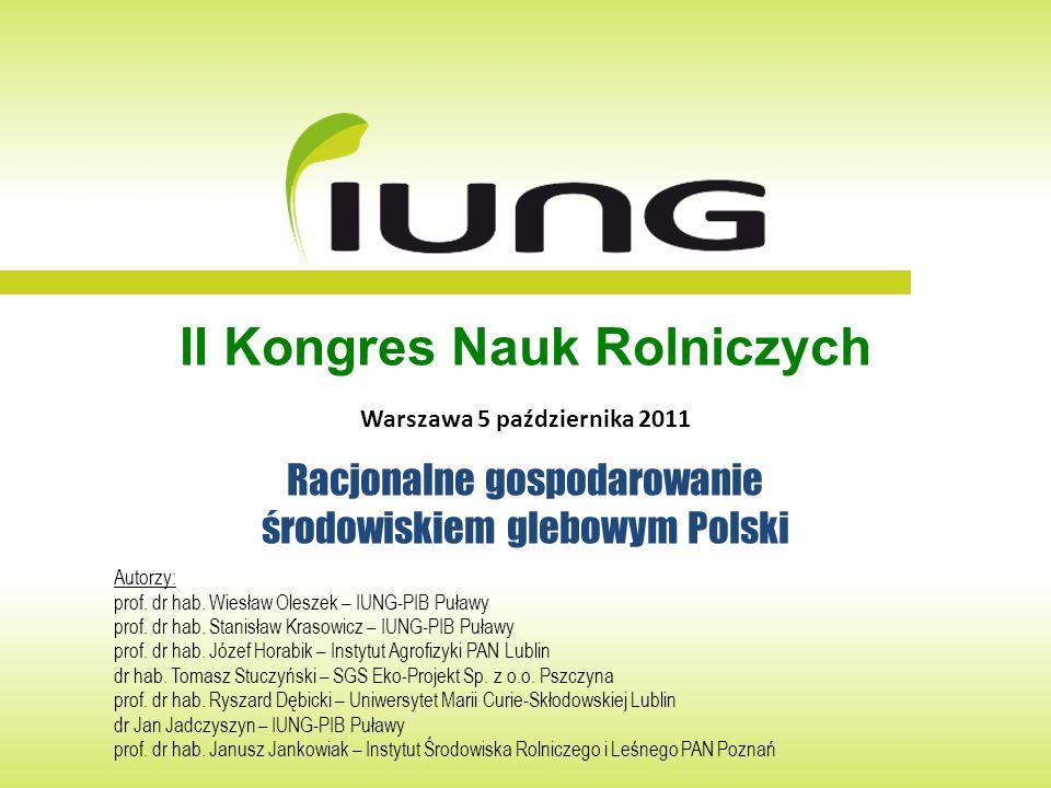 Znaczenie problemu racjonalnego gospodarowania środowiskiem glebowym Polski: 1.Środowisko glebowe stwarza możliwości realizacji produkcji rolniczej; żywność, pasze, surowce dla przemysłu, surowce energetyczne; 2.Jednocześnie powierzchnia gleb użytkowanych rolniczo zmniejsza się w związku z przeznaczeniem znacznych terenów na cele pozarolnicze (urbanizacja, transport); 3.Procesy ubytku gleb dotyczą także gleb bardzo dobrych i dobrych, co stwarza zagrożenia dla samowystarczalności żywnościowej kraju i możliwości zabezpieczenia produkcji biomasy na cele energetyczne; 4.Jednocześnie PROW 2007-2013, zasady WPR UE i konwencje międzynarodowe zobowiązują do ograniczenia zagrożeń dla środowiska przyrodniczego, gleby, wody, powietrze; 5.Racjonalne gospodarowanie środowiskiem glebowym Polski jest strategicznym kierunkiem (celem) rozwoju i koniecznością.