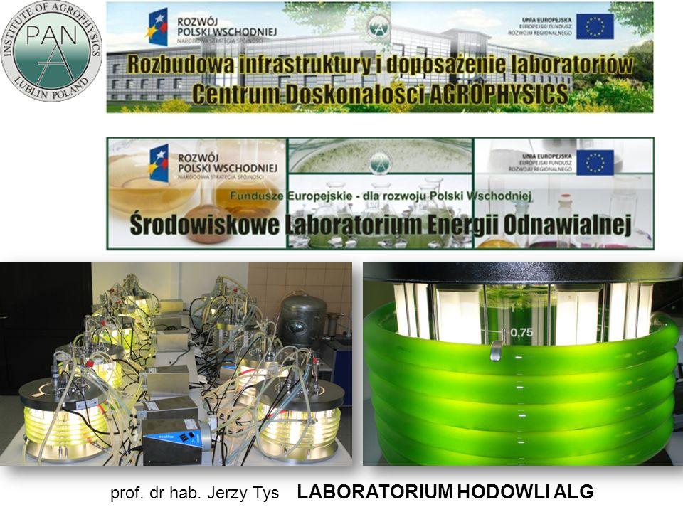 prof. dr hab. Jerzy Tys LABORATORIUM HODOWLI ALG
