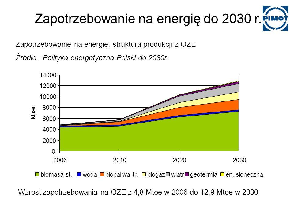 Zapotrzebowanie na energię do 2030 r.