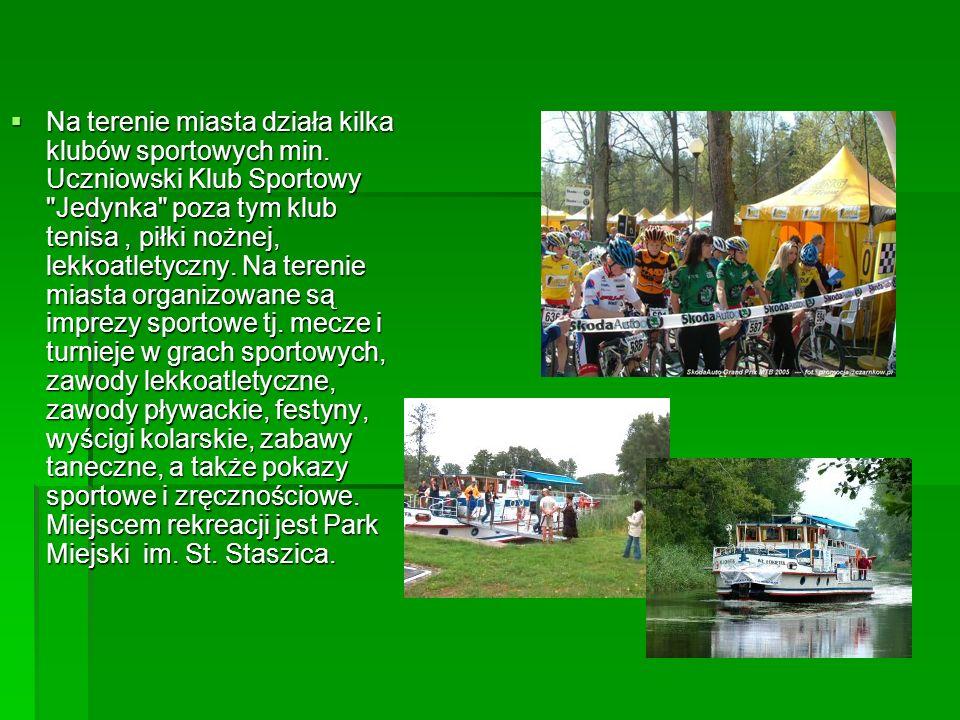 SPORT I REKREACJA Do najważniejszych obiektów sportowych miasta można zaliczyć: basen odkryty z podgrzewaną wodą, stadion lekkoatletyczny wraz z boisk