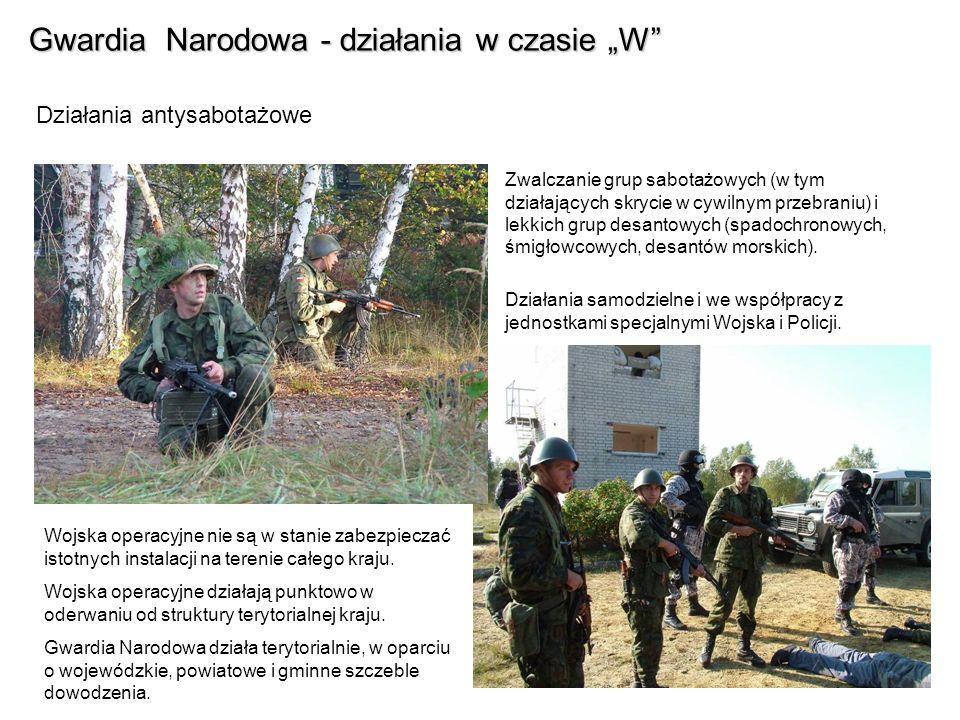 Gwardia Narodowa - działania w czasie W FAZA V - Kontrofensywa Osłabione nieustannymi atakami ze strony Gwardii Narodowej na całym zajętym terytorium, siły nieprzyjaciela nie są zdolne do kontynuowania szybkiego postępu.