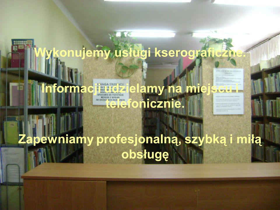 Wykonujemy usługi kserograficzne. Informacji udzielamy na miejscu i telefonicznie. Zapewniamy profesjonalną, szybką i miłą obsługę