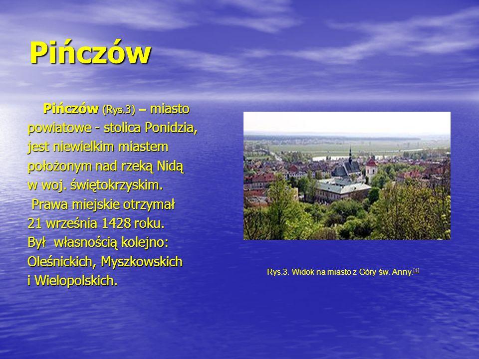 Pińczów Pińczów (Rys.3) – miasto Pińczów (Rys.3) – miasto powiatowe - stolica Ponidzia, jest niewielkim miastem położonym nad rzeką Nidą w woj. święto