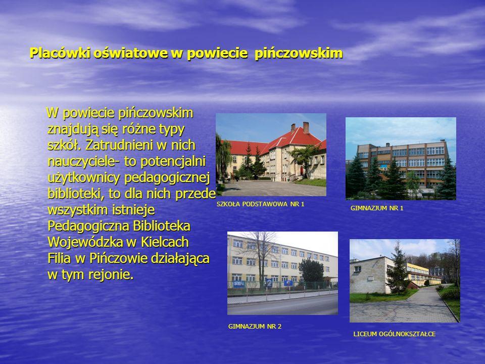 Placówki oświatowe w powiecie pińczowskim W powiecie pińczowskim znajdują się różne typy szkół. Zatrudnieni w nich nauczyciele- to potencjalni użytkow