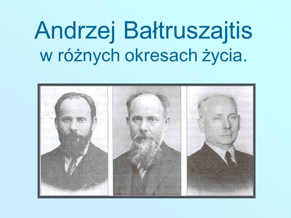 Andrzej Bałtruszajtis w różnych okresach życia.