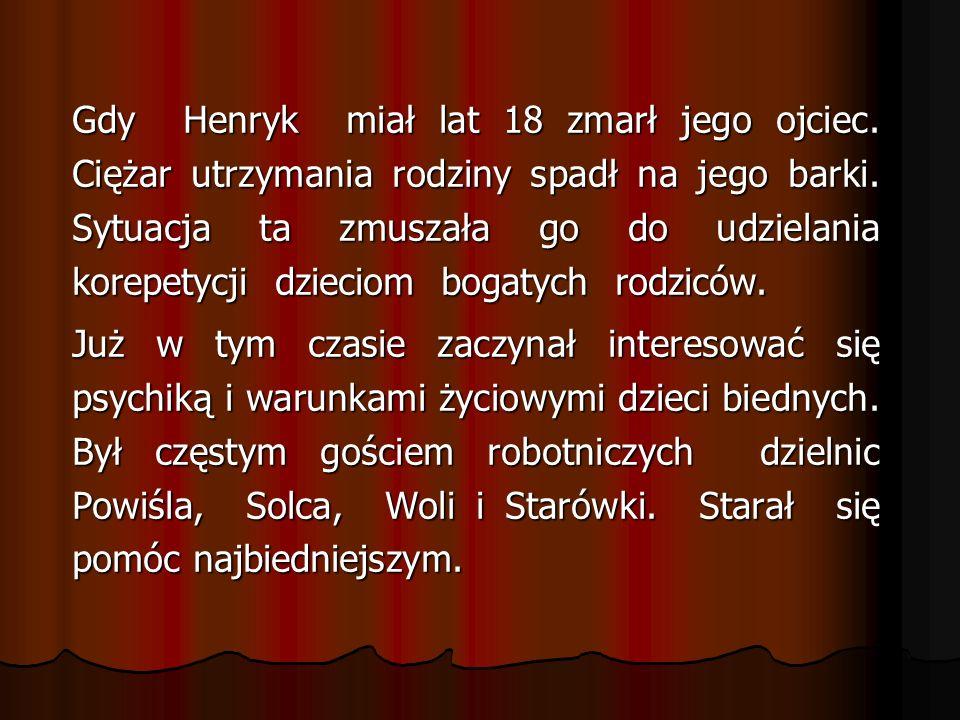 Ostatnią drogę Korczaka i dzieci tak relacjo- nowano: Wszystkie dzieci ustawiono w czwórki, na czele Korczak z oczami zwróconymi w górę, trzymał dwoje dzieci za rączki, prowadził pochód.