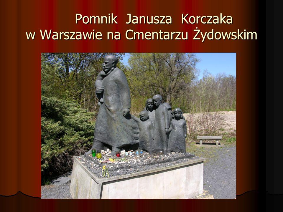 Pomnik Janusza Korczaka w Warszawie na Cmentarzu Żydowskim Pomnik Janusza Korczaka w Warszawie na Cmentarzu Żydowskim