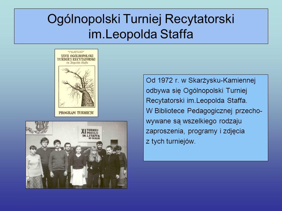 Ogólnopolski Konkurs Literacki im.Leopolda Staffa W 1998 r.