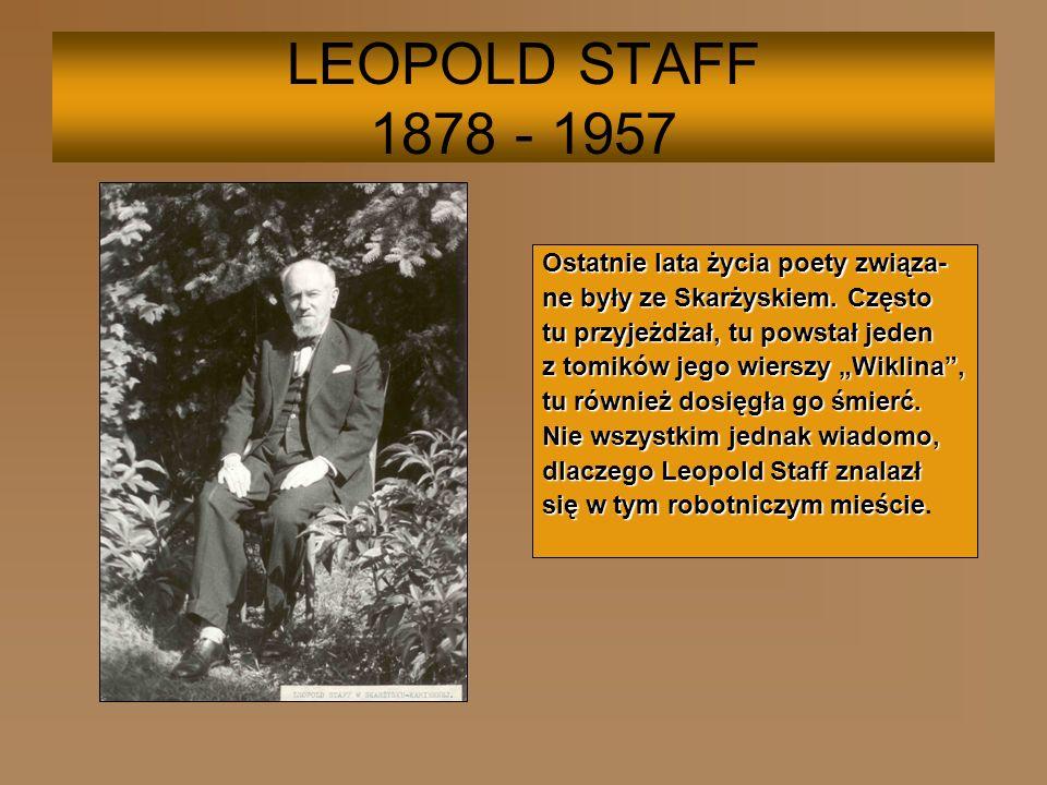 Leopold Staff z żoną w towarzystwie księży z parafii Św.Józefa w Skarżysku-Kamiennej W parafii Św.Józefa funkcję proboszcza sprawował ksiądz Antoni Boratyński.