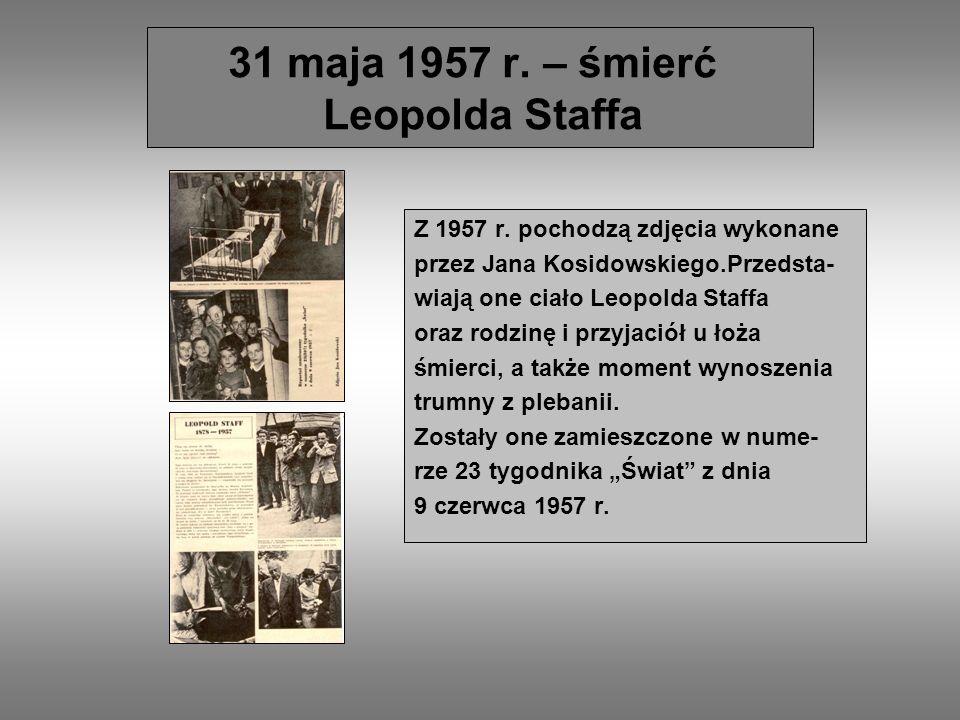 Skarżysko-Kamienna pamięta o Staffie Miasto hołubi pamięć po Leopoldzie Staffie.
